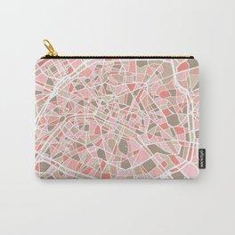 Paris City Map Art Carry-All Pouch