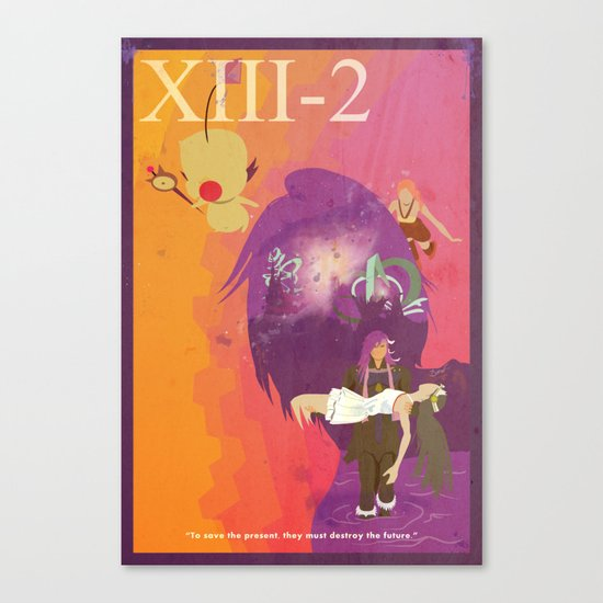 Vintage FF Game Poster XIII-2 Canvas Print