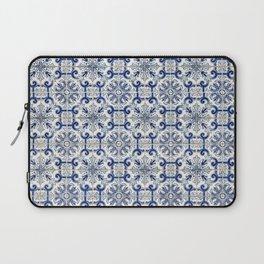 Portuguese tiles pattern blue Laptop Sleeve