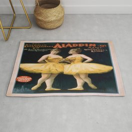 Vintage poster - Aladdin, Jr. Rug