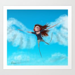 fly on Art Print