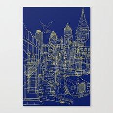 London! Navy Canvas Print