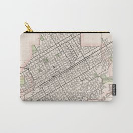 Vintage Map of Birmingham Alabama (1901) Carry-All Pouch
