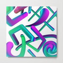 abstract colorful shapes Metal Print