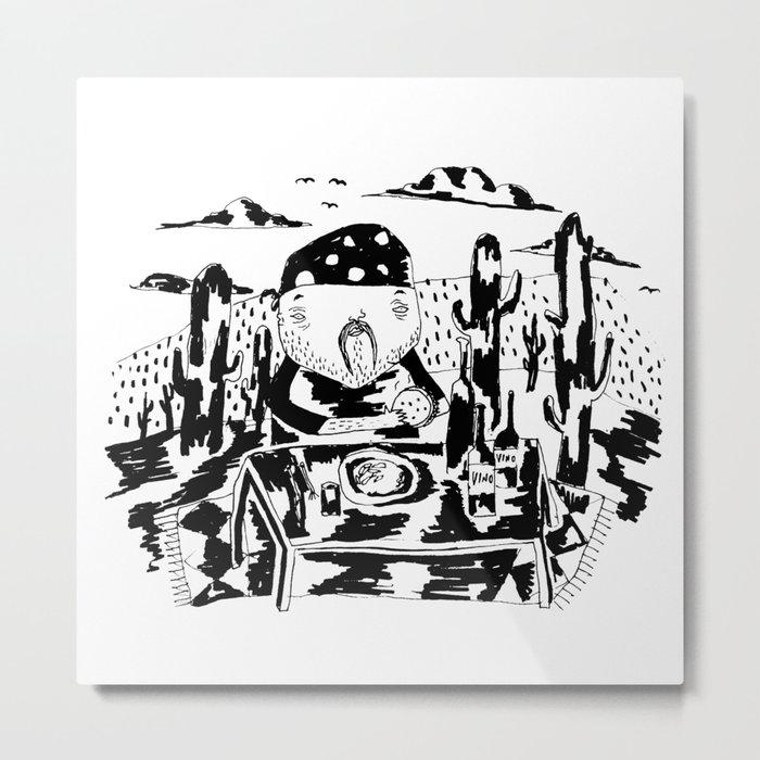 Cactus lunch Metal Print