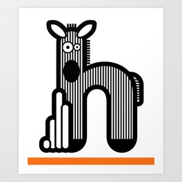 ABC: H Art Print