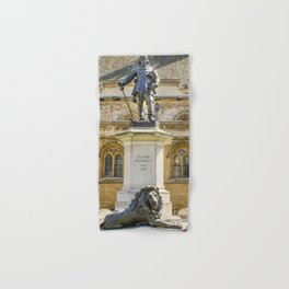 Oliver Cromwell Statue Hand & Bath Towel