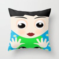 tom selleck Throw Pillows featuring Tom by lescapricesdefilles