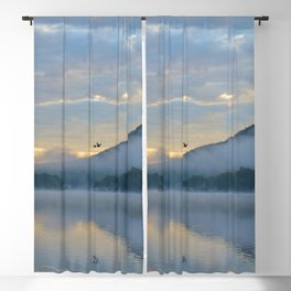 Dreamy Morning: Serene Shades of Blue Blackout Curtain