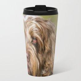 Brown Roan Italian Spinone Dog Head Shot Travel Mug