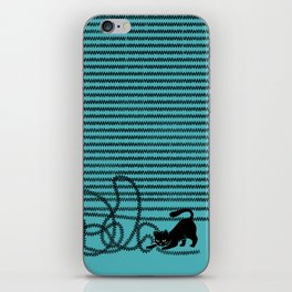 Unravel (in Blue) iPhone Skin