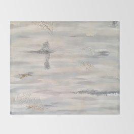 Neutral Driftwood Gray Throw Blanket