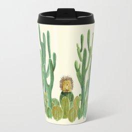 In my happy place - hedgehog meditating in cactus jungle Travel Mug