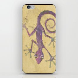 Purple Gecko of Love iPhone Skin