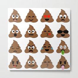 piles of poop in different moods Metal Print