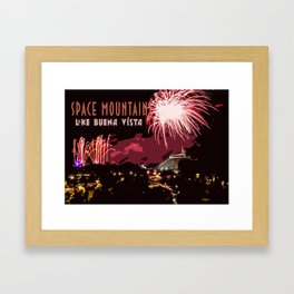 Fireworks Over Lake Buena Vista Framed Art Print