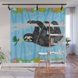 The Sloth and The Hummingbird Wall Mural