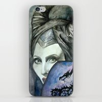 maleficent iPhone & iPod Skins featuring Maleficent by Giulia Colombo
