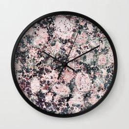 Rustic vintage black pastel pink marble Wall Clock