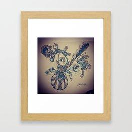 Brat Doll Art - Blue Spiderish Framed Art Print