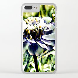 Zinnia In Abstract Clear iPhone Case