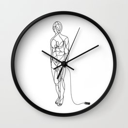 The couturier B&W Wall Clock