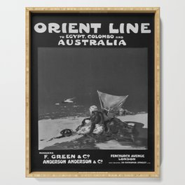retro vintage Orient Line Egypt Colombo Australia poster Serving Tray
