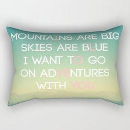 Adventures and I Love You (MODERN) Rectangular Pillow
