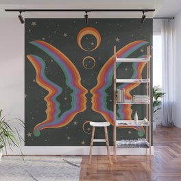 Rainbow Butterfly People Wall Mural