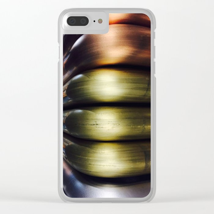 Metal Tubes 1 Clear iPhone Case