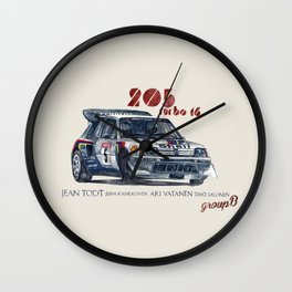 Legend of GROUP B: Peugeot 205 Turbo 16 Wall Clock