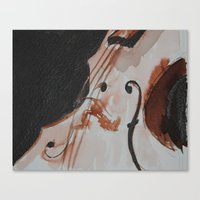 violin Canvas Prints featuring violin by Anja Kidrič AdAk