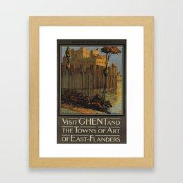 poster Visit Ghent Framed Art Print