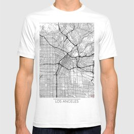 Los Angeles Map White T-shirt