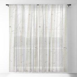 Aspens in Snow II Sheer Curtain
