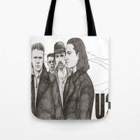 u2 Tote Bags featuring Joshua Tree by Paul Nelson-Esch Art