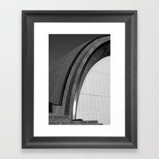 Hatch Lines Framed Art Print