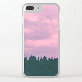 Rose island sunsets Clear iPhone Case