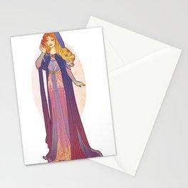 Redesigned Art Nouveau Aurora Stationery Cards