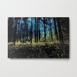 Twilight Fireflies Metal Print