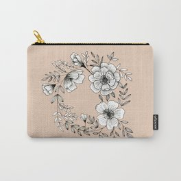 Line Flower Wreath Carry-All Pouch