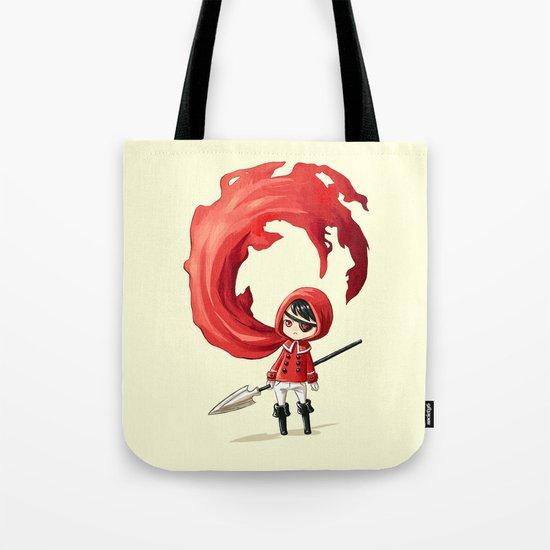 Red Cape Tote Bag