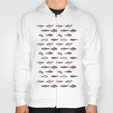 Fishes In Geometrics (Red) Hoody