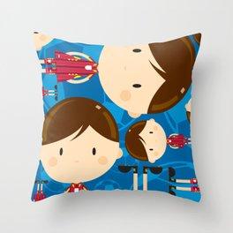 Cartoon Soccer Player Pattern Throw Pillow