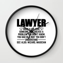 Lawyer Magician | Law Attorney Jura Student Gifts Wall Clock