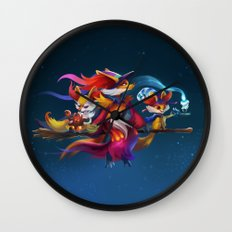 Fire Witches Wall Clock