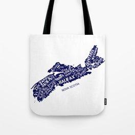 Nova Scotia Map Tote Bag