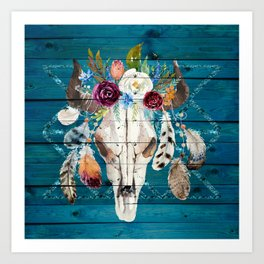 Southwestern Art Boho Chic Art Print