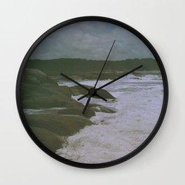 A calm day into the wild at Santa Teresa's beach Wall Clock