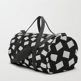 Open Book Pattern (Black) Duffle Bag